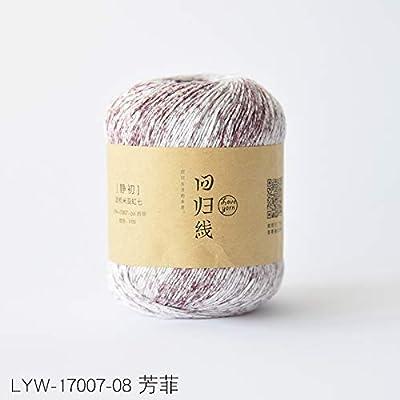 100% mercerizado hilo de algodón peinado teñido línea de algodón ...