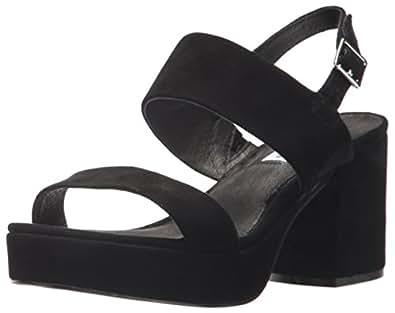 Amazon.com   Steve Madden Women's Reba Sandal Black Suede