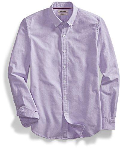 Purple Oxford - Goodthreads Men's Slim-Fit Long-Sleeve Solid Oxford Shirt, Purple, XX-Large