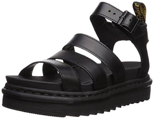 Dr. Martens Women's Blaire Fisherman Sandal, Black Brando Leather, 6 Medium UK (8 US)]()