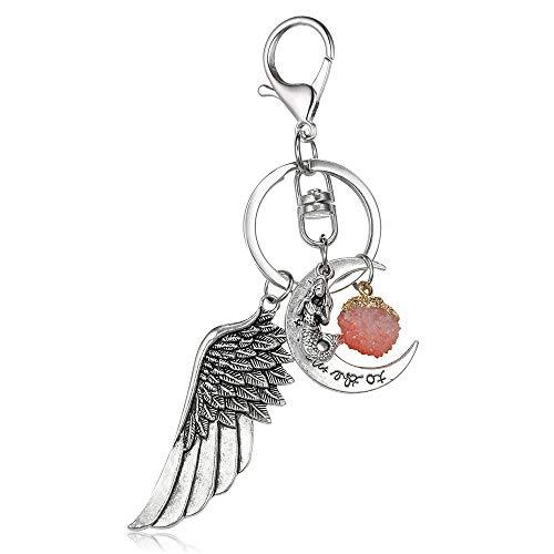 Keychain Charm Metal (Emerayo Creative Fashion Alloy Keychain Key Rings Pendant Metal Key Buckle Loop Charm Pendent Gift (C, One))