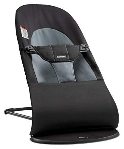 BABYBJÖRN Bouncer Balance Soft, Cotton, Black/Dark Gray
