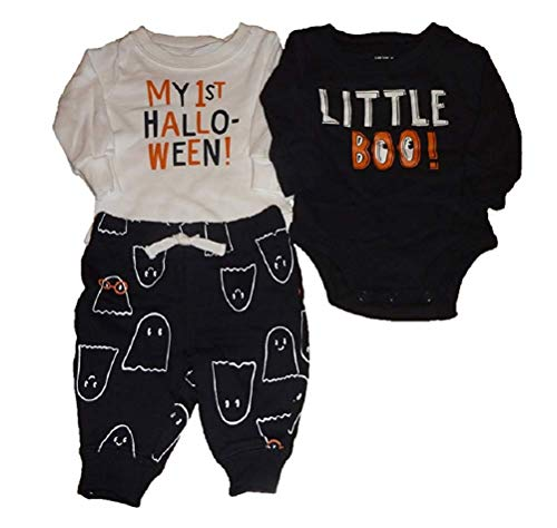 Carter's Baby Boys 3pc Halloween Set- Little Boo! & My First Halloween Bodysuit (Newborn)
