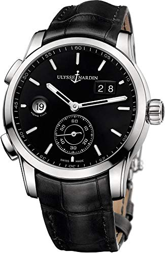 Ulysse Nardin Dual Time Manufacture Black Dial Men's Watch - Watches Ulysse Nardin 92