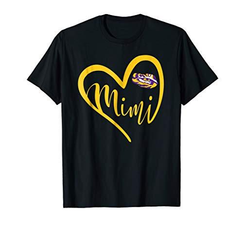 LSU Tigers Heart Grandma - Mimi T-Shirt - Apparel - Lsu Tigers Womens T-shirt