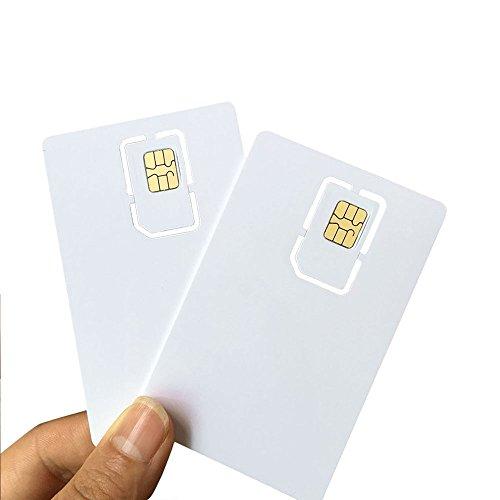 AHongem Writable Programmable Blank SIM USIM Card 4G LTE WCDMA GSM Nano Micro SIM Card 2FF 3FF 4FF for Telecom Operator (5-piece) by AHongem