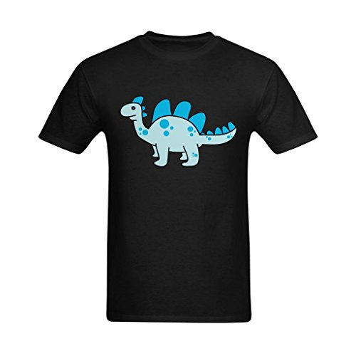 (Fashion-In Men's Joyful Dinosaur Clipart Painting Design T-Shirt - Vintage Tee Shirt US Size Small)