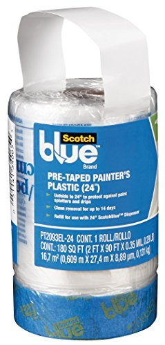 (ScotchBlue Pre-taped Painter's Plastic, Unfolds to 24-Inches by 30-Yard)