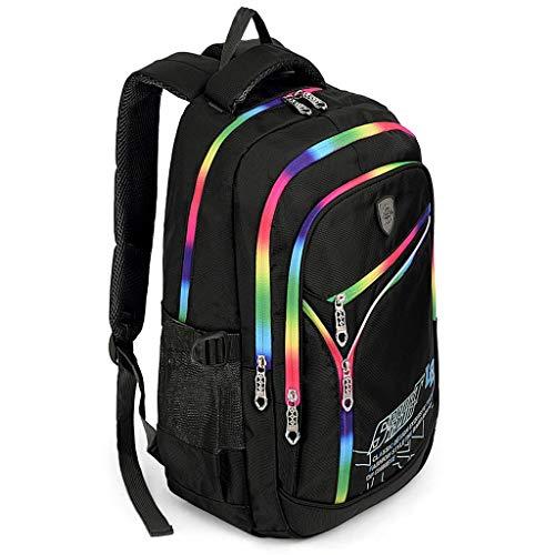 hild Teenager Rucksack Primary Junior School Bookbag Black ()