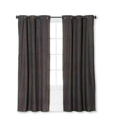 Eclipse Windsor Light Blocking Curtain Panel, Smoke, 42