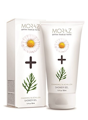 Moraz Sensitive Skin Chamomile & Achillea Shower Gel. 100% active herbal extract ingredients. (5.1 fl. oz. 150ml)