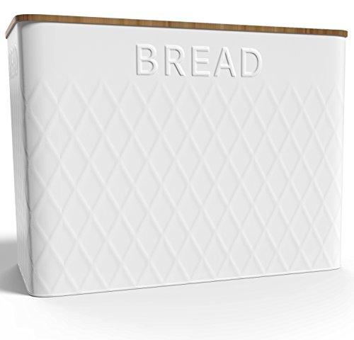 Extra Large Vertical Bread Box + Bamboo Cutting Board - Food Storage - Kitchen Container - Non Toxic - Eco Friendly … (Bread Box)