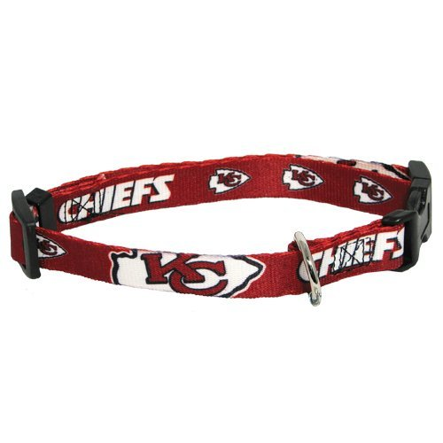 Kansas City Chiefs Pet Dog Adjustable Collar All Sizes (Small)