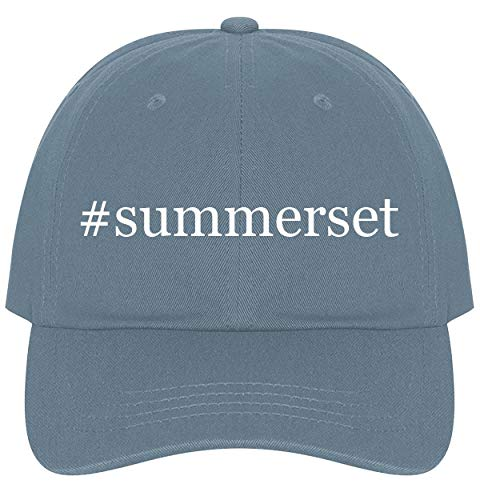 The Town Butler #Summerset - A Nice Comfortable Adjustable Hashtag Dad Hat Cap, Light Blue