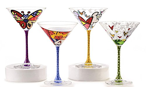 Romero Britto Martini Glass by Romero Britto by Giftcraft