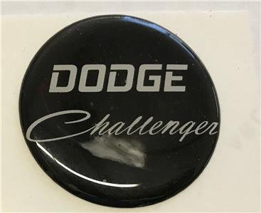 Dodge Challenger Logo Domed Emblem For Fuel Door