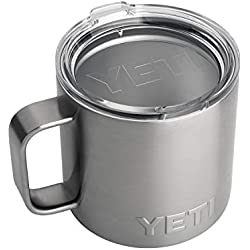 YETI Rambler 14 oz Stainless Steel Vacuum Insulated Mug with Lid, Stainless