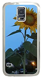 In The Early Morning of Sunflower DIY Hard Shell Transparent Samsung Galaxy S5 I9600 Case Best Designed Protection By Custom Service