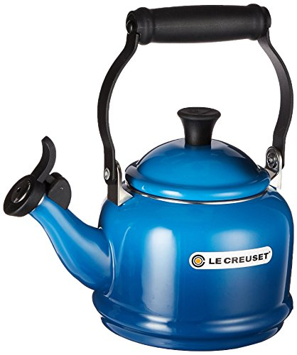 Le Creuset Enamel-on-Steel Demi 1-1/4-Quart Teakettle, Marseille