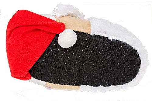 GIBRA® Tierhausschuhe Weihnachtsmann Hausschuhe, Art. 5716, Gr. 36-47 Mehrfarbig