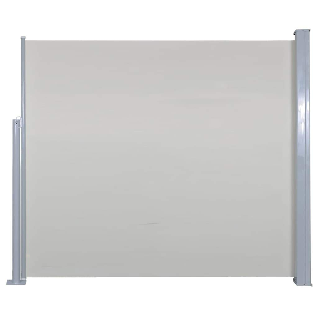 Vidaxl Seitenmarkise 120x300cm Creme Sichtschutz Windschutz