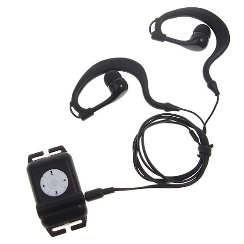 Walsoon WS531 Waterproof Underwater 4GB MP3 Music Player+FM Radio for Swimming (WS531 BLACK)