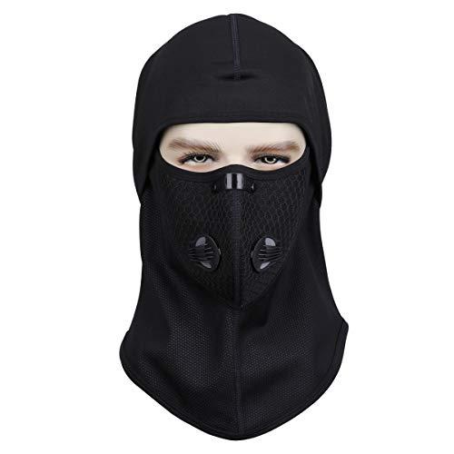 NATUCE Cagoule, Noir RéSistant Au Vent Face De TêTe Protecteur De Capot Chauffe-Cou pour Hiver Chasse en Plein Air… 2