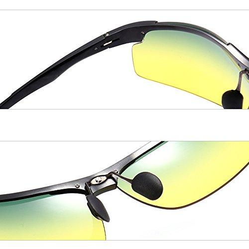 UV Hommes Lunettes PolariséEs Noir Lunettes De TESITE pour Protection Soleil De 100 Xgvptx