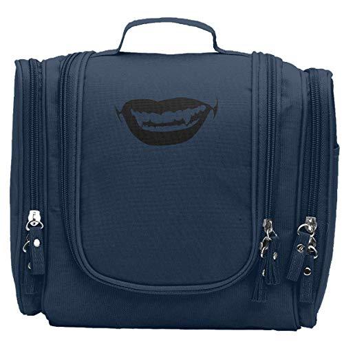 JM-YULI Halloween Sexy Horror Vampire Kiss Women Portable Travel Cosmetic Bags