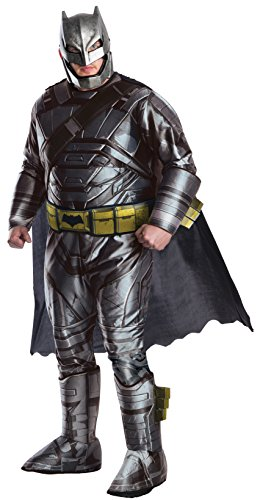 [Rubie's Men's Batman v Superman: Dawn of Justice Deluxe Batman Armored Plus Size, Black, One Size] (Plus Size Deluxe Superman Costumes)