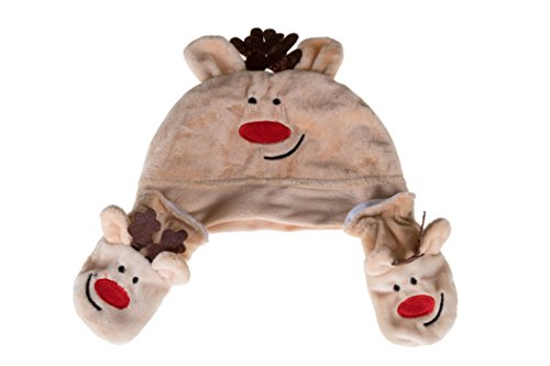 Clever Creations Christmas Novelty Cute Red Nose Rudolph Reindeer Hat One Size Fits Most Adults & Kids -