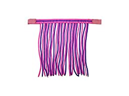 Derby Originals Double Color Horse Fly Veils/Fringes for Pony, Pink/Purple