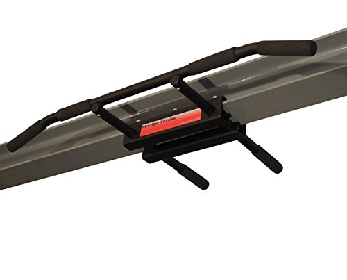 Firstlaw Fitness - 600 LBS Weight Limit - I-Beam Pull Up Bar - Long Bar with Bent Ends - Durable Rubber Grips - Red Label - Made in the USA! by Firstlaw Fitness