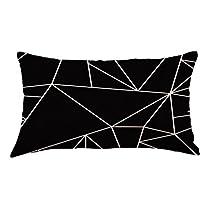 Geometry Arrow Painting Linen Cushion Cover Throw Pillow Case Sofa Home Decor (D)