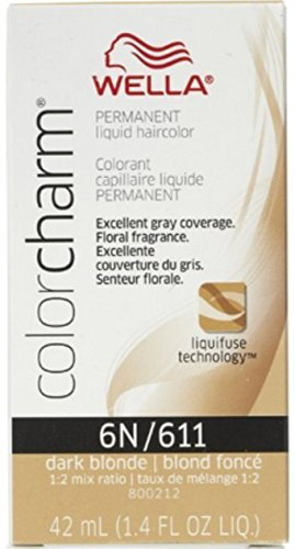 (Wella Color Charm Liquid Haircolor 6n/611 Dark Blonde, 1.4 oz (Pack of 4))