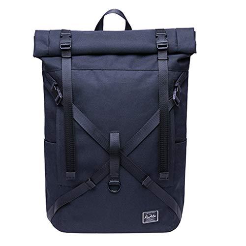 Backpack,KAUKKO Travel Students 15 Inch Laptop for Hiking Travel Camping Backpack,Color,Tactical Backpacks, Black