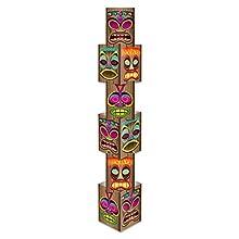 Beistle 54073 Tiki Column, 12-Inch by 5-Feet 71/4-Inch