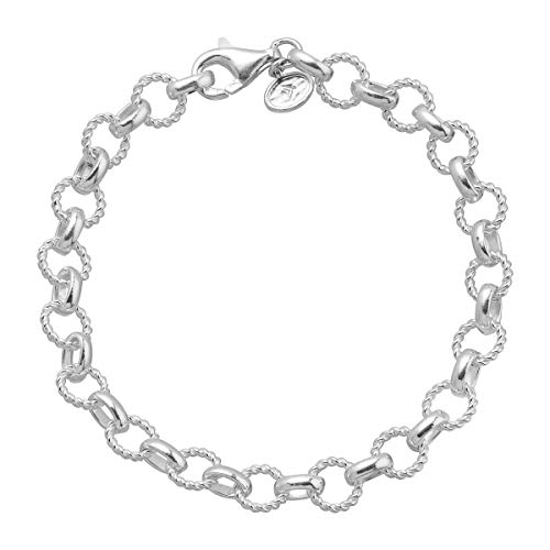 (Silpada 'Andria' Textured Link Chain Bracelet in Sterling)
