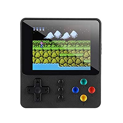 TOTAMALA Handheld Game Console, 500 Classic Games 2 Players 3.0 inch HD LCD Screen Portable Video Game, Retro Game Console can be Played on TV, Best Gift for Children and Adults, Gifts (Black): Toys & Games