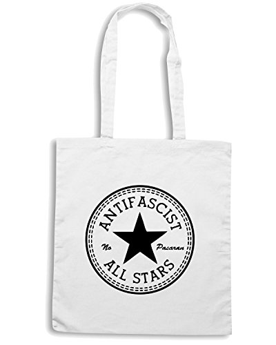 T-Shirtshock - Borsa Shopping TCO0019 allstars antifascist Bianco