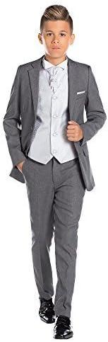 13 Ans gar/çons Costume Gris 12-18 Mois Tourbillon Gilet /& Cravate Paisley of London Fin Costume sur Mesure
