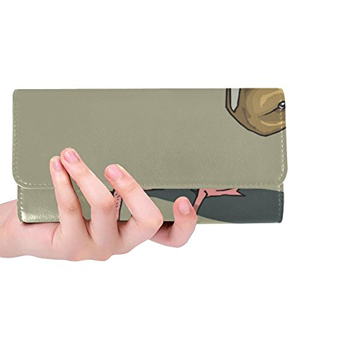 Unique Custom Duck Pintailbird Brown Bird Wings Women Trifold Wallet Long Purse Credit Card Holder Case Handbag (Tweety Bird Watch For Women)