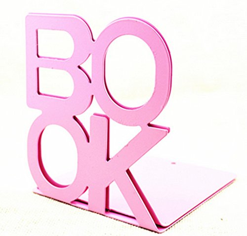 Fasmov Cute Book Nonskid Bookends Art Bookend,1Pair (Pink)