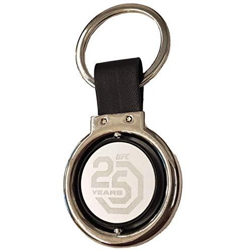 UFC 25th Anniversary Swivel Keychain, Black