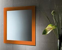 Gedy 7800-67 Orange Finish Vanity Mirror