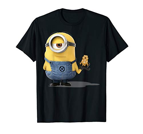 Despicable Me Minions Holding A Ginger Bread Minion Portrait T-Shirt