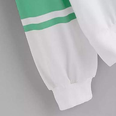 ALIKEEY Las Mujeres Ocasionales De Manga Larga De Impresión De Rayas Jersey Blusa Camisas Sudadera Craneo NiñO Wardrobe: Amazon.es: Ropa y accesorios