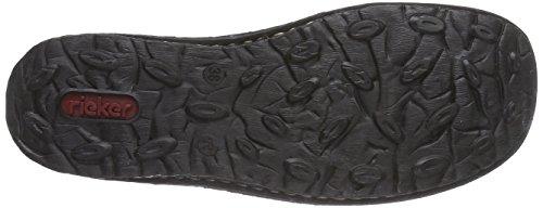 Flats 01 Women's Rieker Black Schwarz Schwarz Loafer 50390 qtqnwRfZ