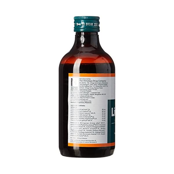 bottle containing best himalaya liv 52 ds syrup