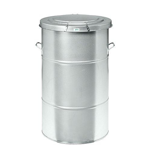 BULTO Mülltonne Abfallbehälter, 115 Liter - verzinkt